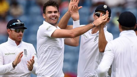 Anderson leads England to victory
